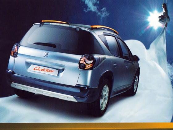 Publicité Peugeot 207 SW Outdoor - tissu aérien, aerial fabric