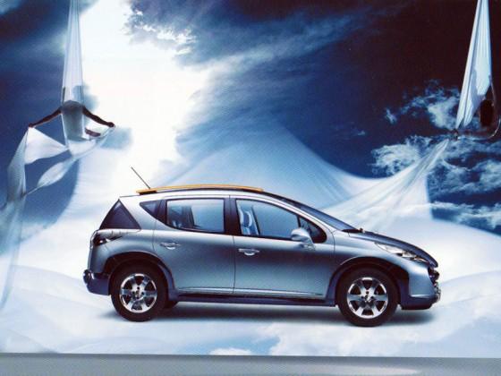 Publicité Peugeot 207 SW Outdoor, Paris - tissu aérien, aerial fabric, solo