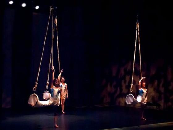 - aerial fabric, show, art