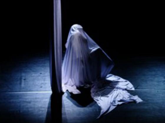 Danseurs enroulés dans des tissus - tissu, show, cirque contemporain