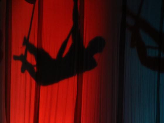 Dancer behind workshop - aerial dance, hoop