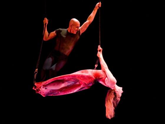 Création artistique de tissu aérien - danseurs aériens