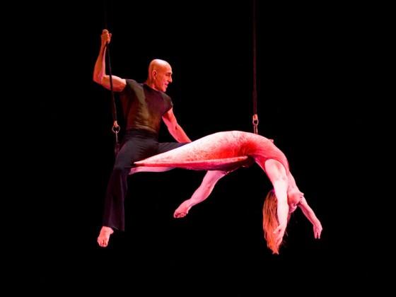 Création artistique de tissu aérien, aerial dance