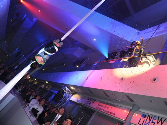 Show événementiel Paris - numéro, tissu aérien, show