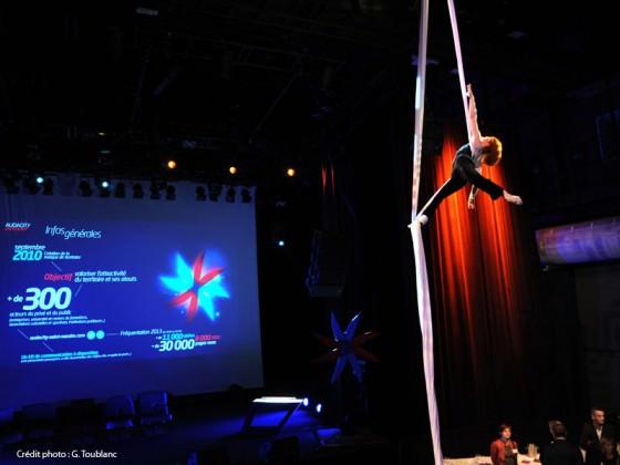 Audacity Award 2013, Fred Deb' - spectacle événementiel, tissu aérien, Fred Deb'