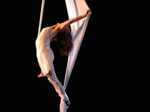 Aerial Dance Festival Boulder, solo Fred Deb' - tissu aérien, aerial fabric