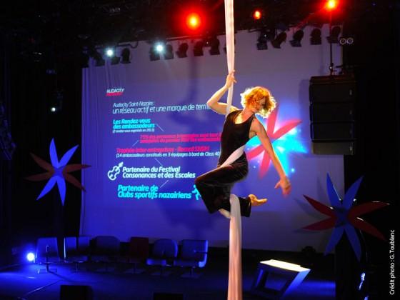 Audacity Award 2013 avec Sophie Locquet, Cie Drapés Aériens - Sophie Locquet, tissu aérien, aerial fabric
