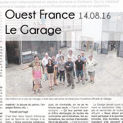 Ouest France-Le Garage 14.0816-Médias