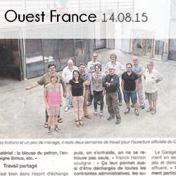 Ouest France-Le Garage_14.08.15-Médias